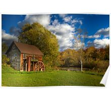 Abandoned Grist Mill Poster