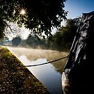 Misty Morning on the Canal No. 3 by Chris West