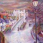 queens way bridge, chester, cheshire by mary saifelden