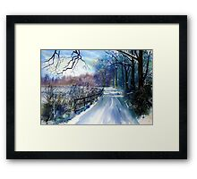 On the Banks of the Ouse in Winter Framed Print