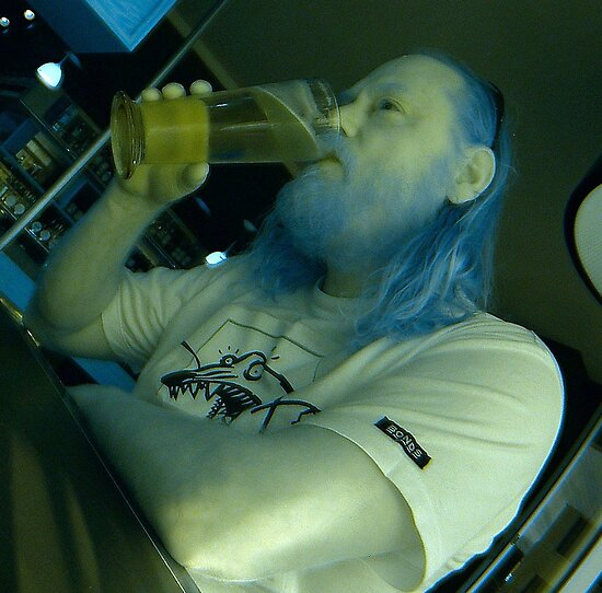 IR self portrait, having a beer by BigAndRed