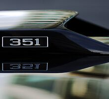 Ford Mustang 351 Engine Emblem by Jill Reger