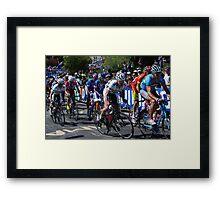 Cadel Evans & Simon Gerrans Framed Print