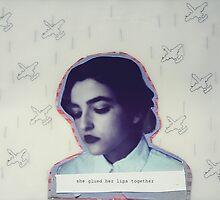 she glued her lips together by Isabela M. Lamuño