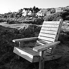 Wooden Chair by the Sea by Loveley Photography