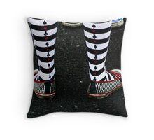 A Deck of Socks Throw Pillow