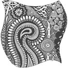 Black and White Zentangle Number 01 by MyArtefacts