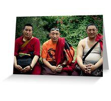 tibetan monks prefer nikon Greeting Card