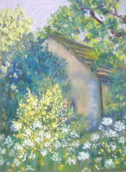 Cow Parsley and Broom by Susan Duffey