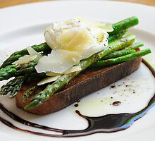 Asparagus bruschetta from another point of view by Nino Ulaan