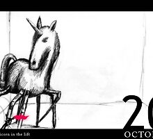 October 20th - The unicorn in the lift by 365 Notepads -  School of Faces