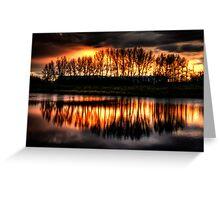 Sunset Over Stettler Pond Greeting Card