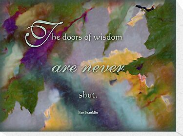 doors of wisdom - wisdom saying no. 8 by vigor