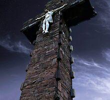 Corrin Cross At Night by Declan Howard