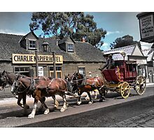Cobb & Co at Sovereign Hill Photographic Print