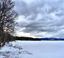 Swedish Lakes - Great frozen lake near mount Åreskutan in Sweden by Lord William Chard