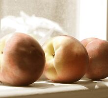 Peaches on the Sill by Wendy Ramos
