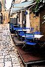 Lonely Cafe - Otranto, Italy by Debbie Pinard