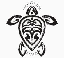 Tribal Honu Ho'okipa, Maui by Susan R. Wacker