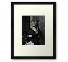 Woman with Pipe Framed Print