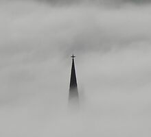 Holy Smoke (Cathedral in The Mist) Derry Ireland by mikequigley
