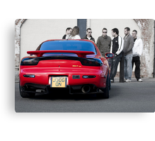 RX7 with Onlookers Canvas Print