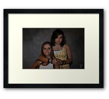 """ Inseperable Twins ... "" Framed Print"