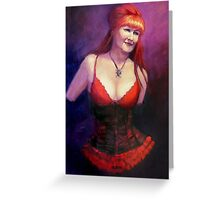 The Burlesque Queen Greeting Card