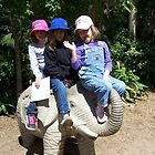 Classic girls on elephant shot :P by Margaret Walker