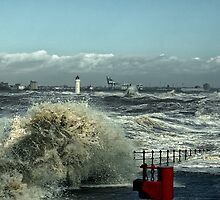 Storm on The River Mersey by Tarrby