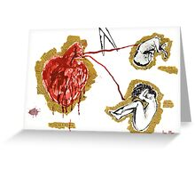 One weak heart can't handle two lives at once Greeting Card