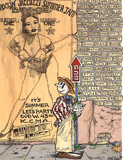 Party Invitation 1988 by Syd Baker
