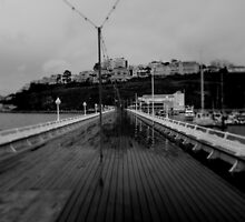 Cold desolate pier by Tony Blakie