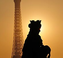 Paris - Sunset Tower. by Jean-Luc Rollier