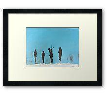 Stark Dark Figures Framed Print