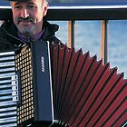 Paris Accordion Man by Blake Steele