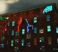 Full Moon over City Arts Lofts by RC deWinter