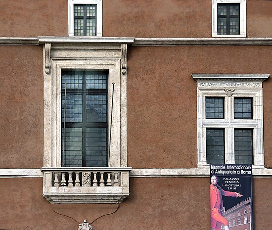 Mussolini's Window, Rome, Italy by robrich