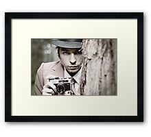 The Intense Photographer Framed Print