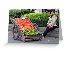 Street Trader, Yangzhou, Jiangsu, China Greeting Card