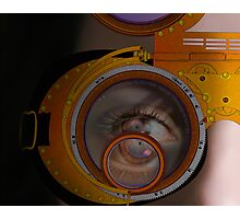 eye as a lens - steampunk variations - zoom Photographic Print