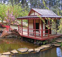 Japanese Tea House. by Esther's Art and Photography
