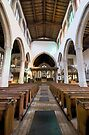 Flatford Church Interior by Nigel Bangert