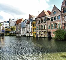 River Leie -Gent  by Lilian Marshall