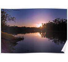 Murray River Sunset - Above Renmark, South Australia Poster