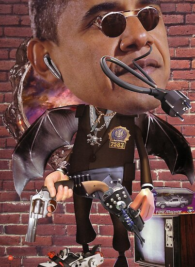 """Obama...Time-Cop""....Equinox Transfusion of the Space/Time Continuum"" by atomikboy"