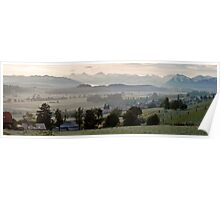 Frosty Morning in the Bernese Oberland Poster