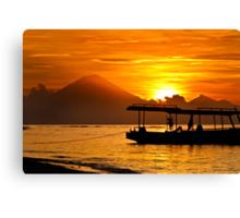 Mount Agung sunset, Bali Indonesia Canvas Print