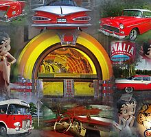 Red nostalgia collage by Paola Svensson