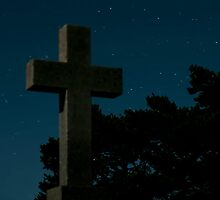 Cemetery at Night by TheMystic